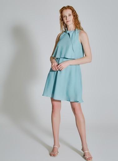 People By Fabrika Bağlamalı Elbise Yeşil